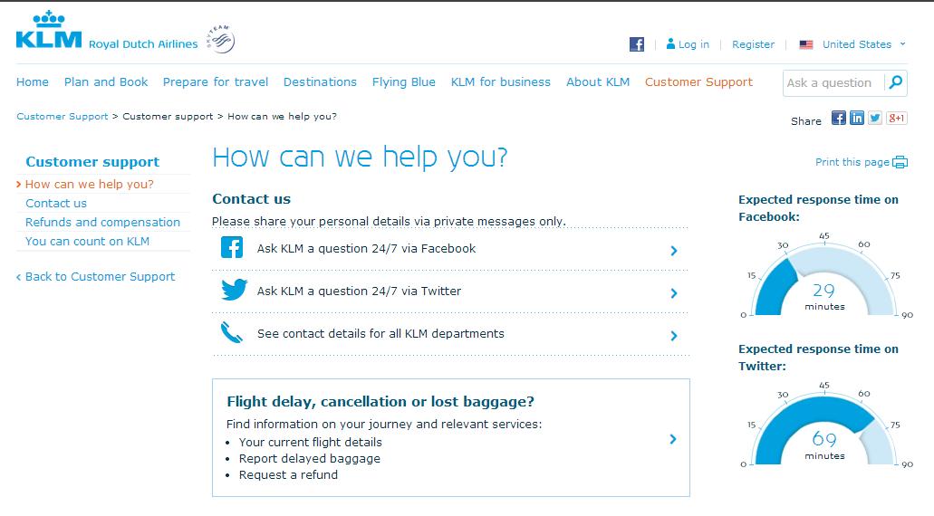 KLM Socials