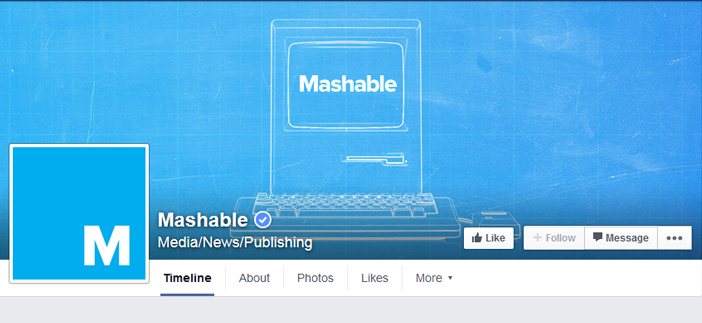 mashable facebook page
