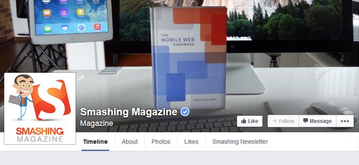 smashing facebook page