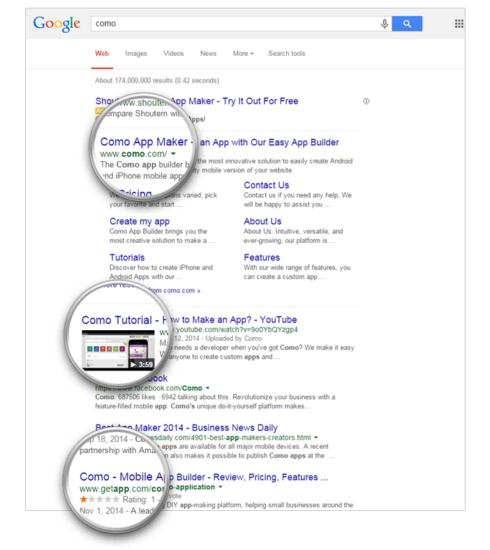 brand search on google